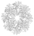 Black and white floral vector image vector image