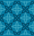 blue moroccan ornamental ceramic tile vector image vector image