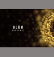 blur abstract dark background golden burst vector image vector image