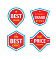 business badges logo set in retro vintage vector image