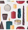 Candles set pattern vector image