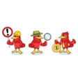 Cardinal Mascot with sign vector image vector image
