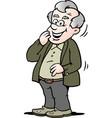 cartoon a happy old man vector image vector image