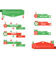 christmas lower thirds vector image vector image