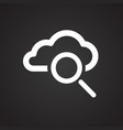 cloud storage search on black background vector image