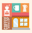 coffee shop store building image vector image