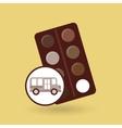 concept bus school palette colors desing vector image