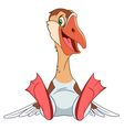 cute cartoon smiling goose vector image vector image