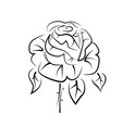 drawing of a rose tattoo logo vector image vector image