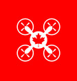 drone quadrocopter icon maple leaf symbol vector image vector image