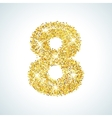 Eight number in golden style vector image vector image