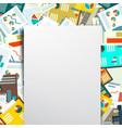 empty paper on paperwork background vector image vector image