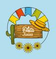 festa junina with decorations design vector image vector image