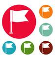 flag icons circle set vector image vector image