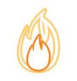 flame fire symbol cartoon vector image vector image