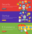 Flat design concept for security startup and vector image vector image
