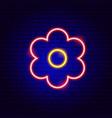 flower bloom neon sign vector image vector image