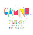 gamine font and alphabet numbers and vector image vector image