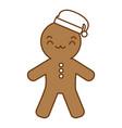 ginger bread kawaii character vector image vector image