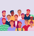 group of men flat vector image