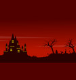 halloween red background landscape style vector image vector image