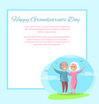happy grandparents day couple together outdoors vector image vector image