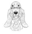 Hipster dog Basset Hound vector image