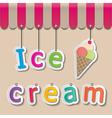 icecream shopfront sign vector image vector image