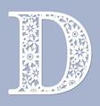 laser cutting pattern letter d