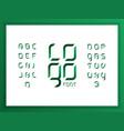 logo green alphabet letters vector image vector image