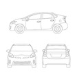 Medium size city car line art style vector image vector image