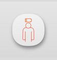 mental exhaustion app icon vector image vector image