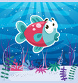 of underwater world vector image