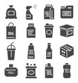 packaging icons set for packaging products and vector image