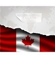 paper with hole and shadows CANADA flag vector image vector image