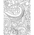 Pattern flower coloring for adults vector image