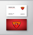 phoenix abstract logo and business card vector image