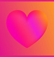 pink heart colorful neon figuresvalentines day vector image vector image