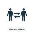 relationship icon monochrome style design from vector image