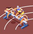 running jogging isometric background vector image