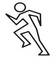 Running man1 vector image vector image