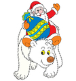 Santa Claus and Polar Bear vector image vector image