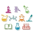 Science and chemistry icon set vector image vector image