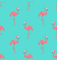 seamless flamingo bird on blue pattern repeated vector image