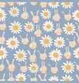 seamless pattern cute cartoon bunnies and vector image vector image