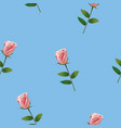 seamless pattern with pink rose vector image vector image