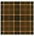 Seamless Tartan Brown Pattern Design vector image vector image