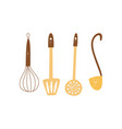 set kitchen utensils or tools for cooking flat vector image
