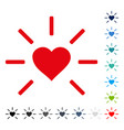 shine heart icon vector image vector image
