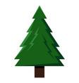 single color icon - pine tree vector image vector image